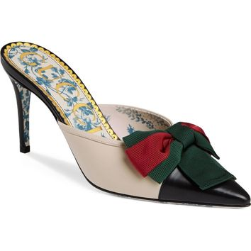 Gucci Sackville Bow Mule (Women) | Nordstrom