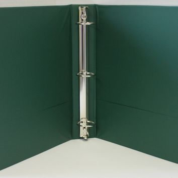 "1.5"""" Basic 3-Ring Binder w/ Two Inside Pockets - Green Case Pack 12"