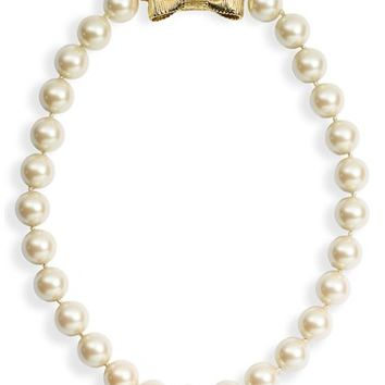 Women's kate spade new york 'all wrapped up' short glass pearl necklace