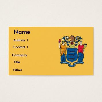 Business Card with Flag of New Jersey U.S.A.