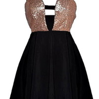 Glamorous Life Dress | Long-Sleeve Black Sequin Dresses | Rickety Rack