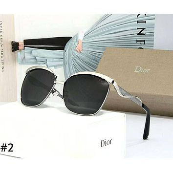 Dior tide brand female metal frame polarized sunglasses #2