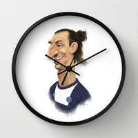 Ibrahimovic - PSG Wall Clock by Sant Toscanni