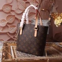 LV Louis Vuitton MONOGRAM LEATHER SHOULDER BAG TOTE BAG