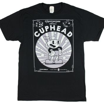 Cuphead A Run & Gun Game Starring Cuphead Men's T-shirt