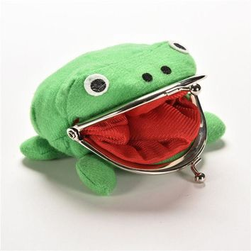 LMFONHS 2017 Hot Selling Frog Wallet Anime Cartoon Wallet Coin Purse Manga Flannel Wallet Cute purse Naruto Coin holder 1PCS