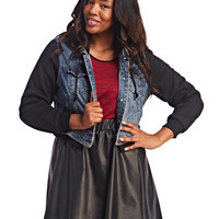 Knit Hood Denim Jacket | Wet Seal+