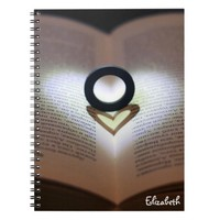 Love Ring and Shadow Heart Notebook
