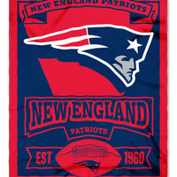 New England Patriots 50x60 Fleece Blanket - Marque Design