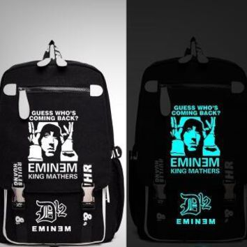 Japanese Anime Bag Rap God Eminem Bad Meets Evil I am not Afraid Backpack Messenger Luminous Bag School Travel Bags  Gift AT_59_4