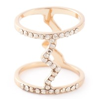 Luxury Fashion embellished mid ring