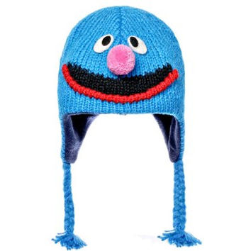 Sesame Street Grover Kids Wool Pilot Hat with Ear Flaps