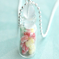 sour patch kids candy jar necklace