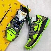 "OFF WHITE x Nike Air Zoom Terra Kiger 5 ""Electric Green"" Sport Shoes"