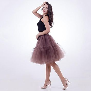 Tutu Tulle Skirt Vintage Pleated Skirt