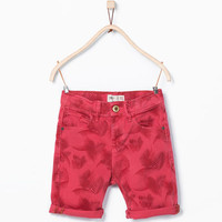 PRINTED JEANS SHORTS New