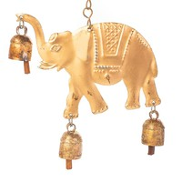 Lucky Elephant Chime With Three Desert Bells