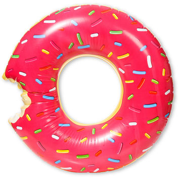 Gigantic Pink Donut Inflatable Pool Float at Zumiez : PDP