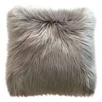 Threshold™ Long Haired Gray Fur Pillow