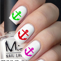 colorful anchor nail decals nail decal nail art nail sticker