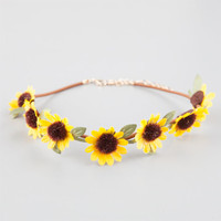 Full Tilt Sunflower Choker Yellow One Size For Women 25361460001
