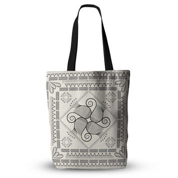 "Famenxt ""Paisley Into The Dream"" Beige Pattern Everything Tote Bag"