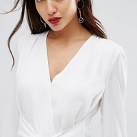 Ivyrevel Wrap Blouse With Tie Front at asos.com