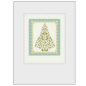 Christmas Cross Stitch Patterns for Greeting Cards  -  a set of four cross stitch patterns in PDF - INSTANT DOWNLOAD