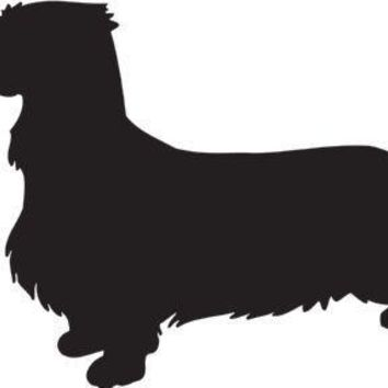 Dachshund Silhouette Dog Puppy Breed Long Die Cut Vinyl Transfer Decal Sticker