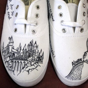 Custom Harry Potter Canvas Sneaker by ShadedElephant on Etsy 84afed89e