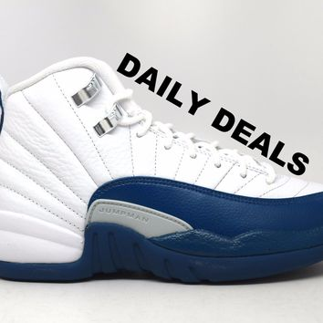 Air Jordan 12 Retro French Blue BG GS Basketball Shoes