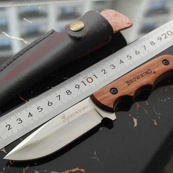 Browning Fixed Blade Stainless Steel Knife 5Cr13Mov Hunting Knife