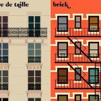 Paris vs NYC - la faade - Society6
