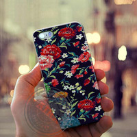 Embroidery Floral Case for Iphone 4, 4s, Iphone 5, 5s, Iphone 5c, Samsung Galaxy S3, S4, S5, Galaxy Note 2, Note 3.
