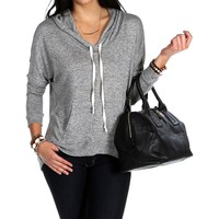 Mocha Hooded Light Sweatshirt