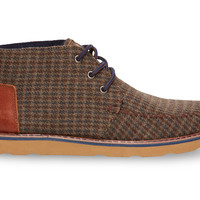 Brown Beardy Houndstooth Men's Chukka Boots US