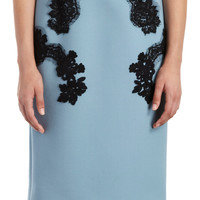 DOLCE & GABBANA Lace Applique Strapless Sheath
