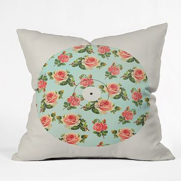 Allyson Johnson Floral Vinyl Throw Pillow