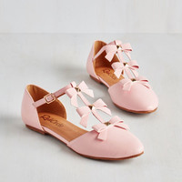 Darling See it to Bow-lieve It Flat in Pink by ModCloth