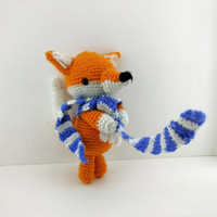 Fox, amigurumi, crochet doll, handmade, animal