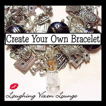 Supernatural Jewelry - Create Your Own Supernatural Bracelet - Ultimate Charm Bracelet - Choose From Over 90 Charms