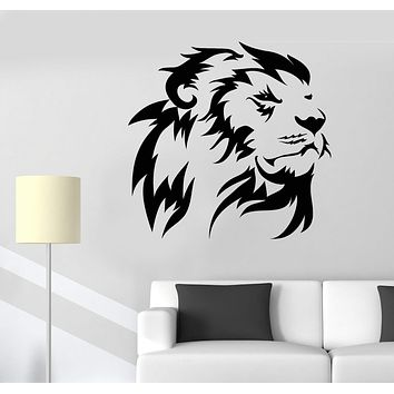 Vinyl Wall Decal Lion King Head African Animal Predator Stickers Unique Gift (1396ig)