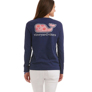 Long-Sleeve Love Whale Pocket Tee