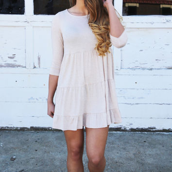 Georgia On My Mind Dress {Taupe}