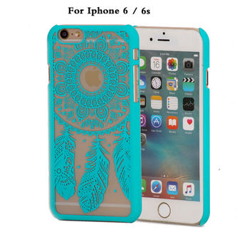 coque cell phone case for apple iphone6 iphone 6 s 6s 4.7 case brand gold pink hard luxury flower cover original casess