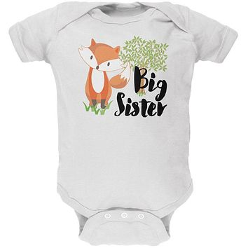 Big Sister Cute Fox Woodland Nature Soft Baby One Piece