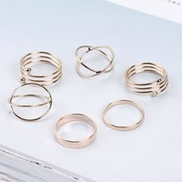 Bagues Gold Stackable Rings
