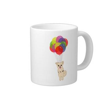 Puppy with Balloons 20 Oz Large Ceramic Coffee Mug