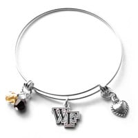 Wake Forest Demon Deacons Bangle Bracelet