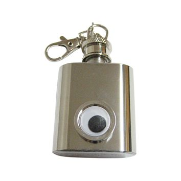 Googly Eye 1 Oz. Stainless Steel Key Chain Flask